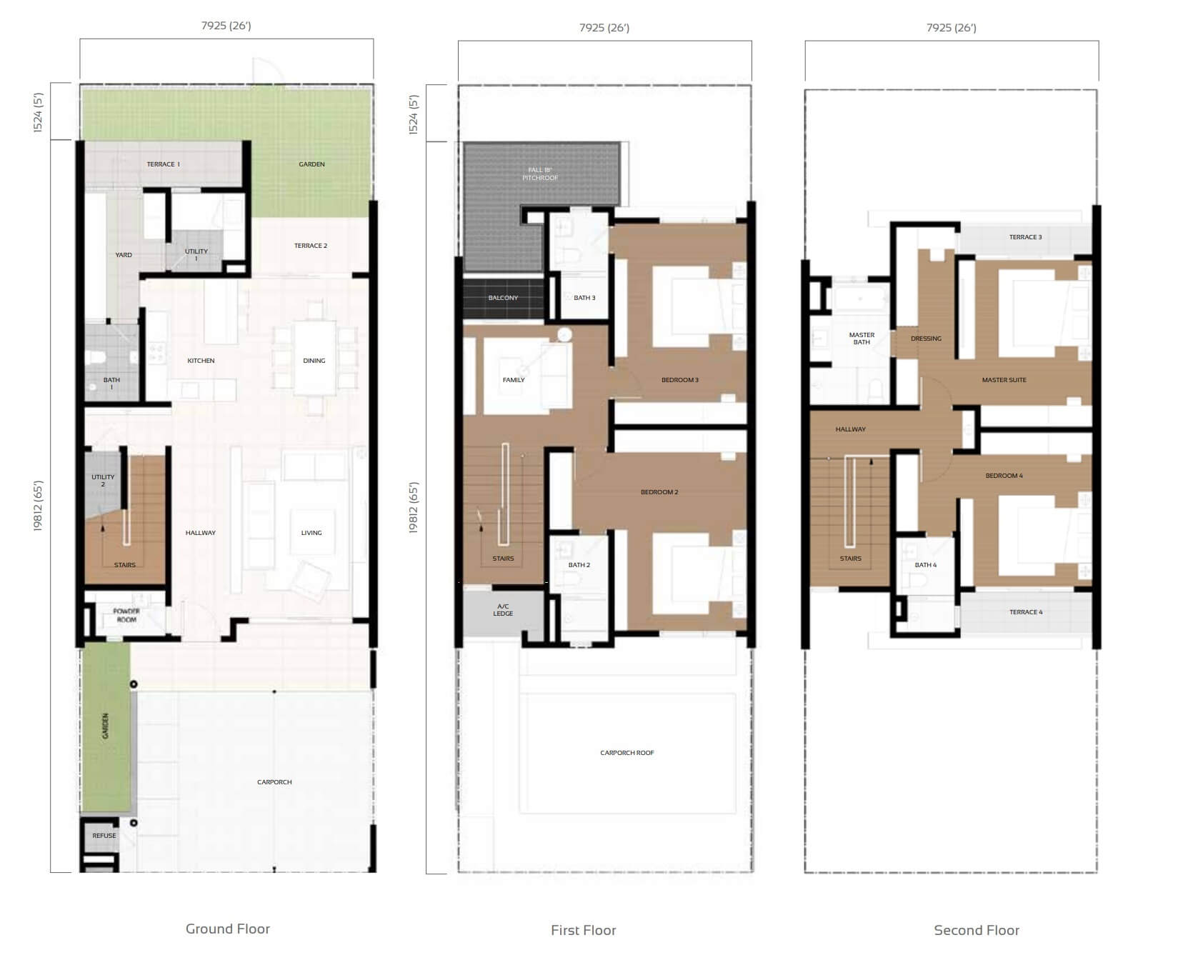 Camelia Type B E Floor Plan